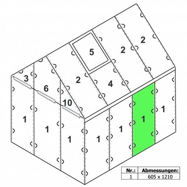 Zelsius Hohlkammerstegplatte 6 mm | Gewächshaus Ersatzplatte #1