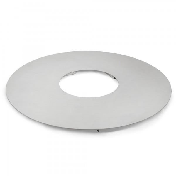 BBQ-TORO Edelstahl Grillplatte Ø 55 cm, BBQ Plancha, Feuerplatte, rund