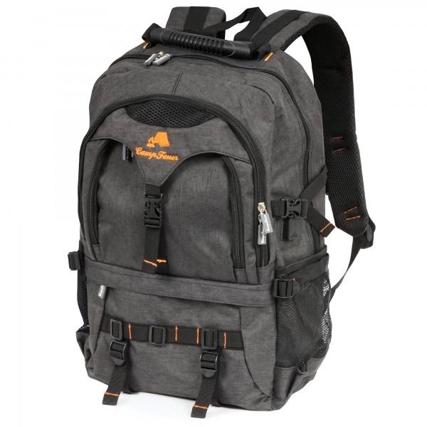 CampFeuer Business Rucksack 17 Zoll 19L, schwarz, Laptop Notebook