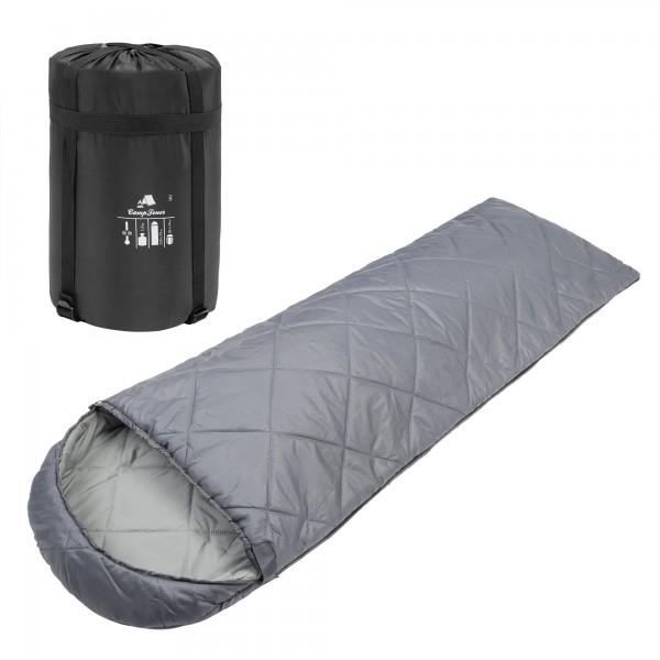 CampFeuer Deckenschlafsack | 220 x 75 cm | grau | Schlafsack