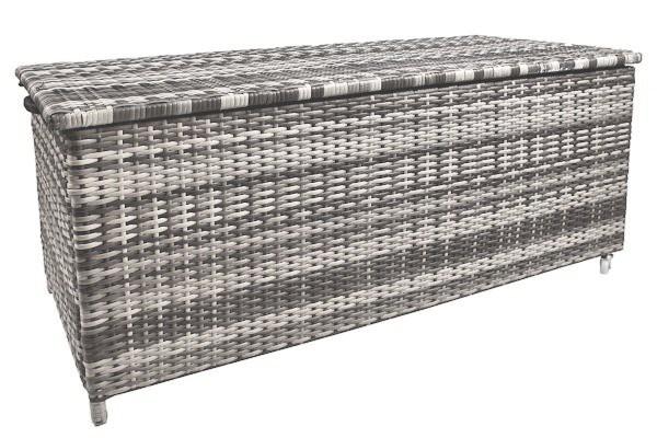 Interessant Zelsius - Rattan Auflagenbox, grau, 133 x 62 x 55 cm   CS-Trading  CC97