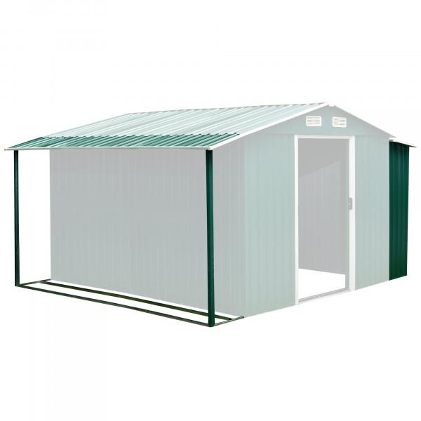 Zelsius Gerätehausanbau 303 x 156/146 x 42 cm, grün, passend für GEHA4