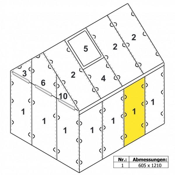 Zelsius Hohlkammerstegplatte 4 mm | Gewächshaus Ersatzplatte #1