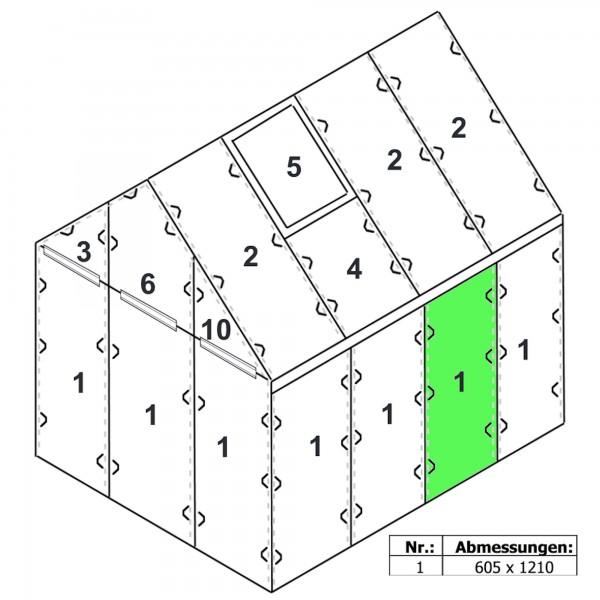 Zelsius Hohlkammerstegplatte 6 mm | 121 x 60,5 cm | Gewächshaus Ersatzplatte #1