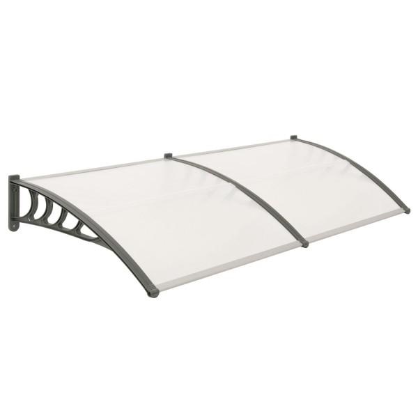 vordach 200 x 100 cm f r haust r und terrasse hohlkammerstegplatten cs clever. Black Bedroom Furniture Sets. Home Design Ideas