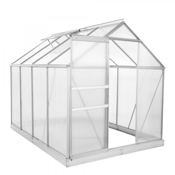 Zelsius Aluminium Gewächshaus SET,4 mm Platten, inkl. Fundament-Rahmen