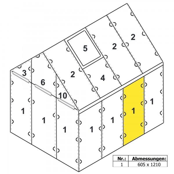Zelsius Hohlkammerstegplatte 4 mm | 121 x 60,5 cm | Gewächshaus Ersatzplatte #1