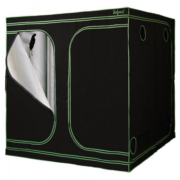 ZELSIUS Grow Tent 200 x 200 x 200 cm schwarz/grün Pflanzenzucht Indoor