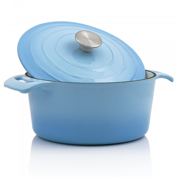 BBQ-Toro Cocotte   4,0 Liter - Ø 24 cm   Gusseisen, emailliert, blau