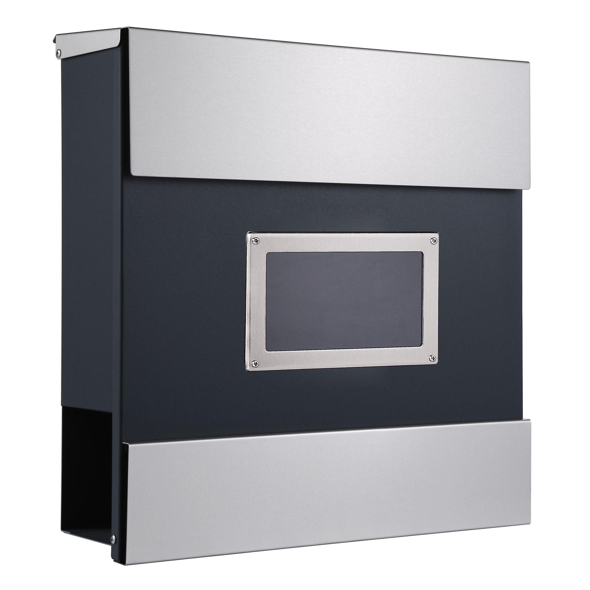 zelsius wandbriefkasten mailand mit sichtfenster und zeitungsfach cs clever. Black Bedroom Furniture Sets. Home Design Ideas