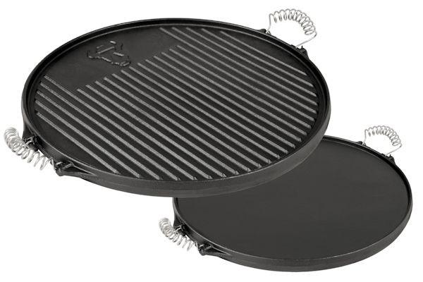 BBQ-Toro Gusseisen Grillplatte mit Griffe | Ø 43 cm | emailliert