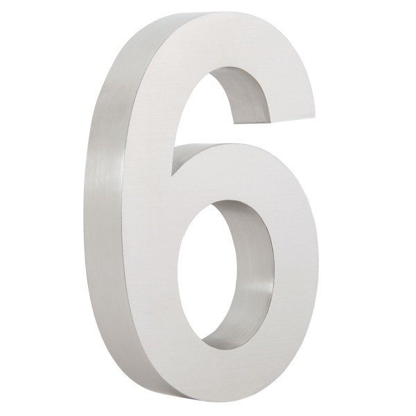 "ZELSIUS Edelstahl Hausnummer ""6"""