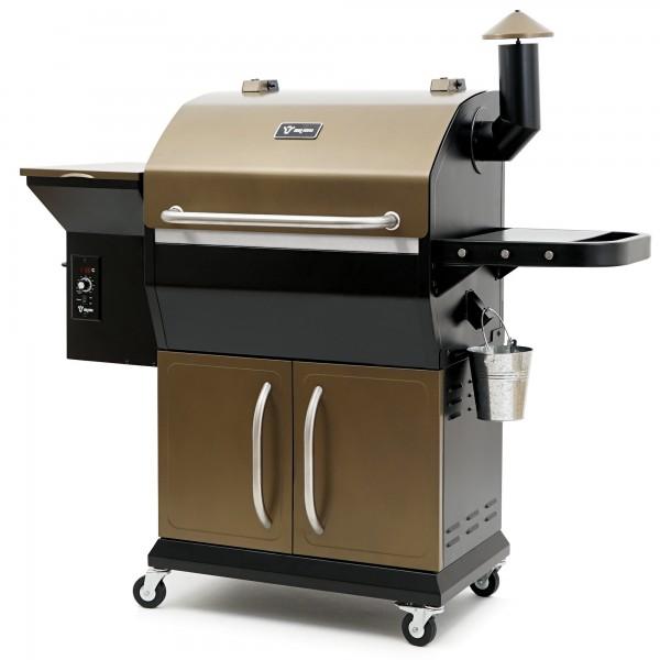 BBQ-Toro Pellet Smoker Grill PG2 | Schwarz - Gold | Pelletgrill
