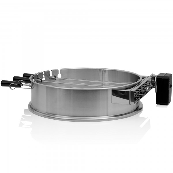 BBQ-Toro Grillspieß Set für Ø 57 cm Kugelgrill   7 Edelstahl Spieße