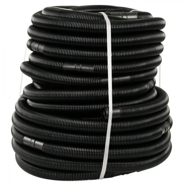 Zelsius Poolschlauch für Sandfilteranlage | schwarz | 50 m Gesamtlänge, Ø 32 mm