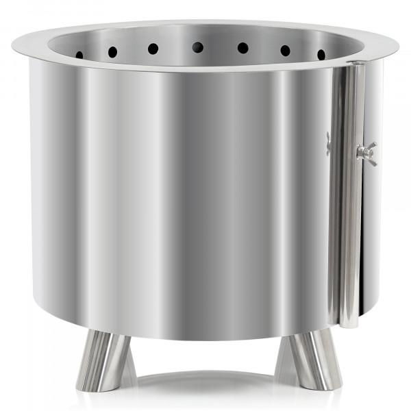 BBQ-Toro Edelstahl Feuertonne Ø 46 cm | mit Füßen | moderner Feuerkorb