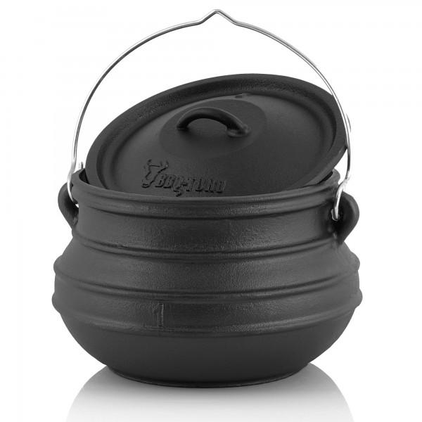 BBQ-Toro Potjie #1, für 2 - 4 Personen, 3 Liter, ohne Füße Kochtopf