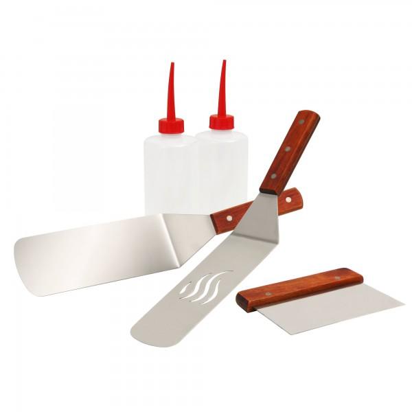 BBQ-TORO Grill Plancha Kit, 5-teilig mit Grillwender und Spritzflasche