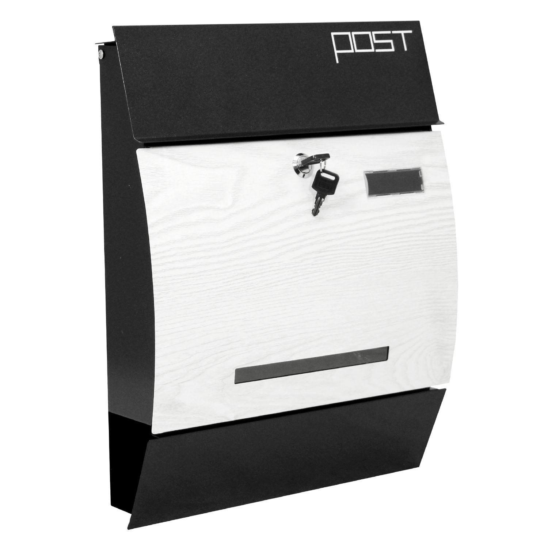 zelsius wandbriefkasten bantu schwarz sand cs clever shoppen im onlineshop. Black Bedroom Furniture Sets. Home Design Ideas