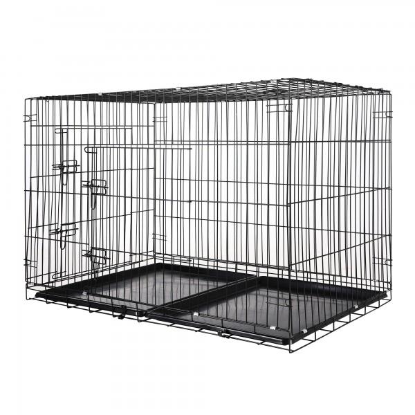 Zelsius Haustierkäfig, 121 x 76 x 82 cm, faltbar, für Hunde, Katzen,..