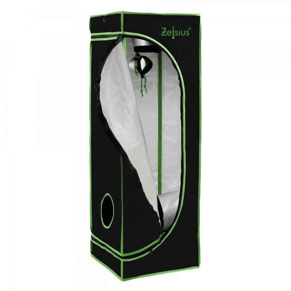 ZELSIUS Grow Tent 60 x 60 x 180 cm schwarz/grün Pflanzenzucht Indoor