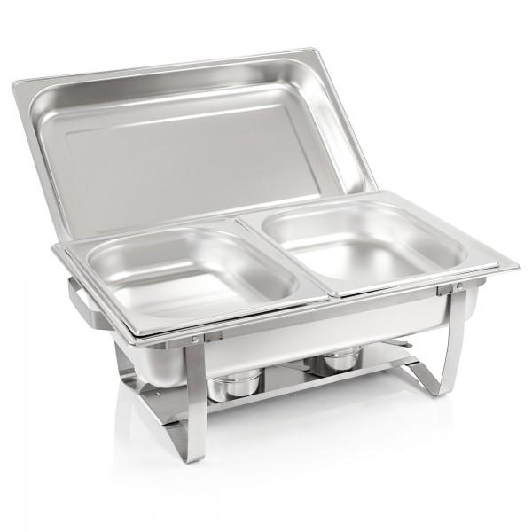 """ZELSIUS Chafing dish """"Nizza"""" mit 2x 1/2 GN Warmhaltebehälter"""