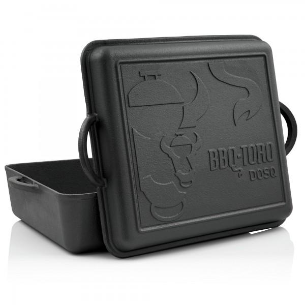 BBQ-Toro Dutch Oven Pan, 10,8 Liter, Gusseisen Kochtopf, Gusstopf