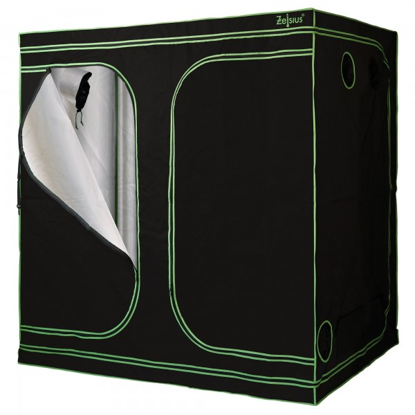 ZELSIUS Grow Tent 240 x 120 x 200 cm schwarz/grün Pflanzenzucht Indoor