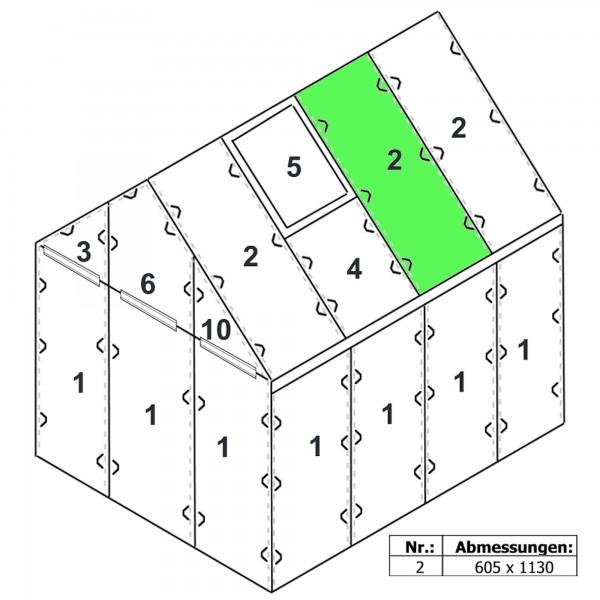 Zelsius Hohlkammerstegplatte 6 mm | 113 x 60,5 cm | Gewächshaus Ersatzplatte #2
